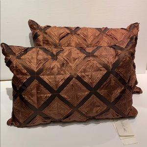🆕NWT Thai Feather & Down Cushions/silklike fabric